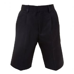 Boys Black Standard Fit Shorts